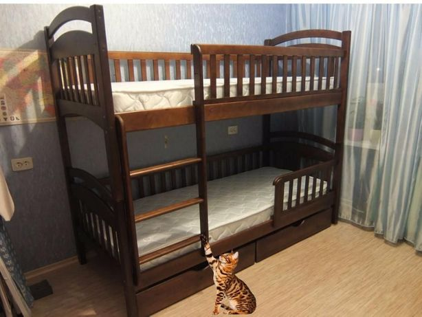 Двухъярусная ( Двухьярусная ) кровать Каринчик с дерева