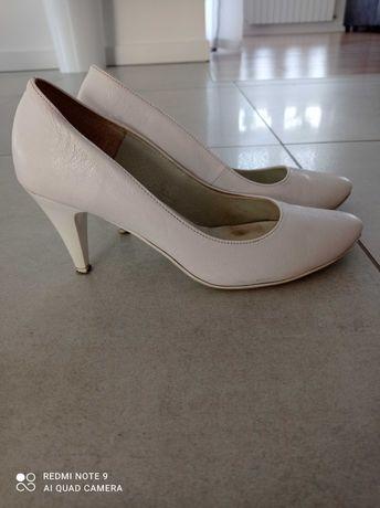 Buty ślubne białe 37