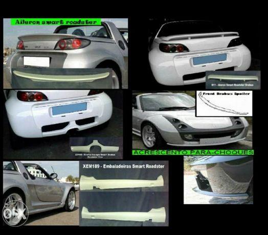 Material Smart roadster (Alerons, embaladeiras, grelha..)