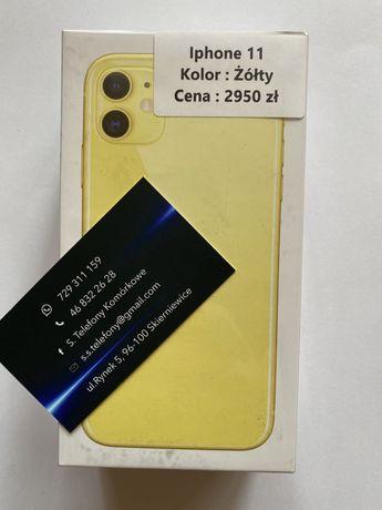 Telefon Iphone 11 Żółty 64 GB