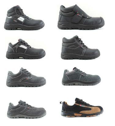 LOTE Bota/Sapato de trabalho pele/camurça biqueira de aço/kevlar