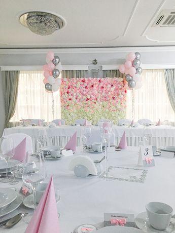 Ścianka kwiatowa, tło pod zdjęcia wesela, uroczystości
