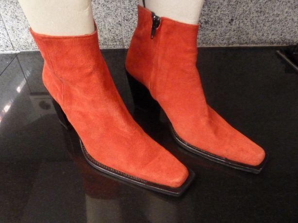 Botas vermelhas, Staza, tamanho 38 (Versace, Ralph Lauren)