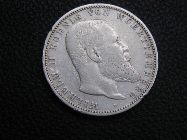 5 марок 1895 года Вюртемберг