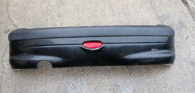 Peugeot 206 zderzak tył tylni 206 peugeot czarny EXL