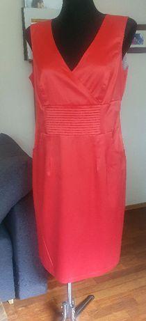Piekna czerwona sukienka r. 42 marki Wize