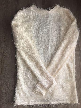 Кофточка-травка с люрексовой нитью и красивой спинкой