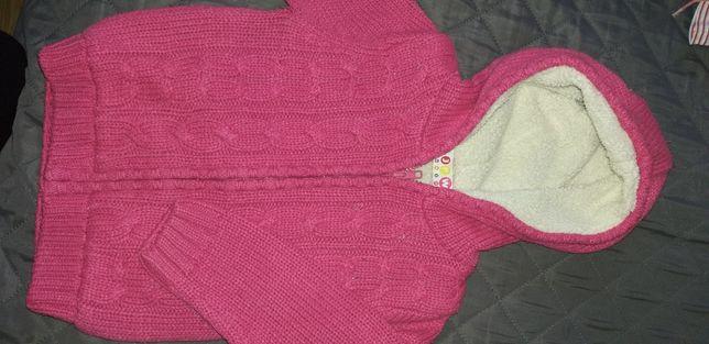 Sweterek dziecięcy ocieplany roz 86