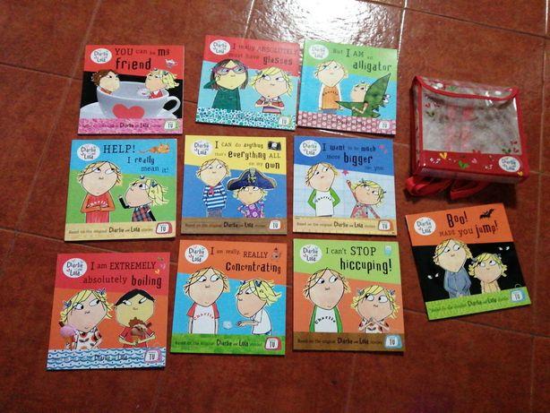 Conj. de 10 livros Charlie and Lola + sacola, totalmente em inglês.