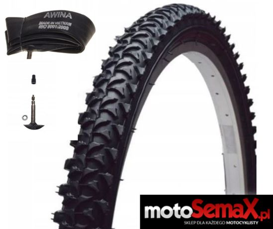 Opona Bike 26 X 1.95 M411 + Dętka 26 X 1.75/1.95 AWINA - Motosemax