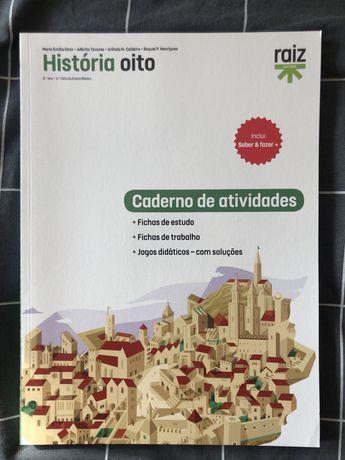 Livro Caderno de atividades história 8.º ano
