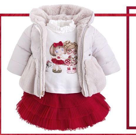 Детская двусторонняя зимняя курточка Mayoral