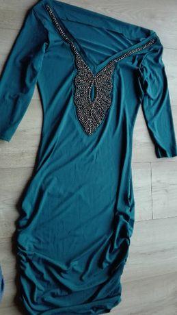 Sukienka orsay 36 na różne okazje super stan turkusowa