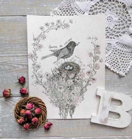Рисунок/живопись/открытки/картины/для детской/птички