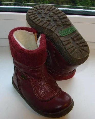 Сапожки зимние кожаные (ботинки, ботиночки) на девочку. Размер - 24.