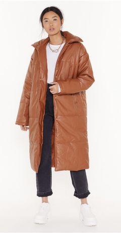 Пуховик куртка пальто кожа Nasty Gal