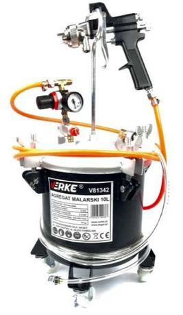 Профессиональный пневматический окрасочный агрегат Verke 10L (V81342)