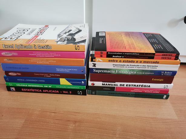 Livros Gestão, Contabilidade, Matemática, Estatística e Marketing