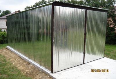 Wiata blaszana - ocynkowana - blaszak - garaż blaszany 3x5