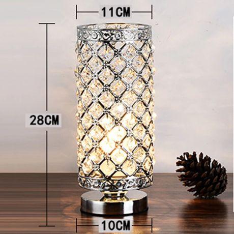Lampa srebrna z kryształkami błyszcząca śliczna glamour led