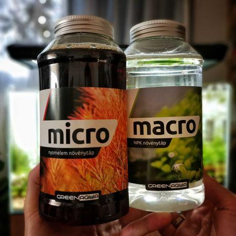 Nawozy dla roślin Green Aqua Mikro 1000 ml + Green Aqua Makro 1000 ml