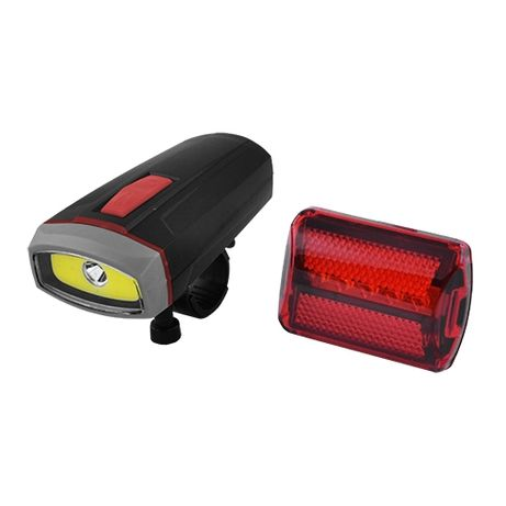Комплект 2шт фонарь велосипедный BL-808 велофара + габарит 5LED