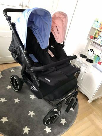 Wózek bliźniaczy Baby Monster Easy Twin na gwaracji