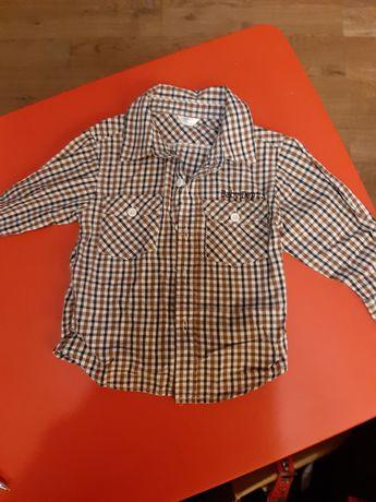Koszula w kratkę 80