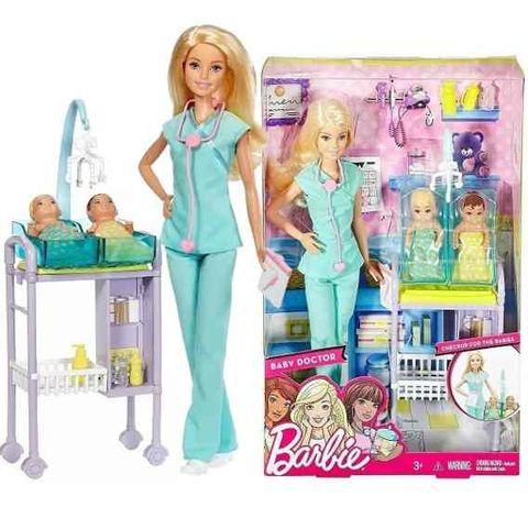 Кукла Барби Педиатр с двумя малышами Детский доктор Barbie