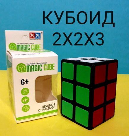 CUBOID Кубоид 2х2х3 Черный пластик наклейка