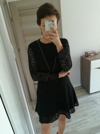Czarna sukienka Mango