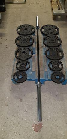 Zestaw olimpijski GRYF + obciazenia 105kg fi 51mm