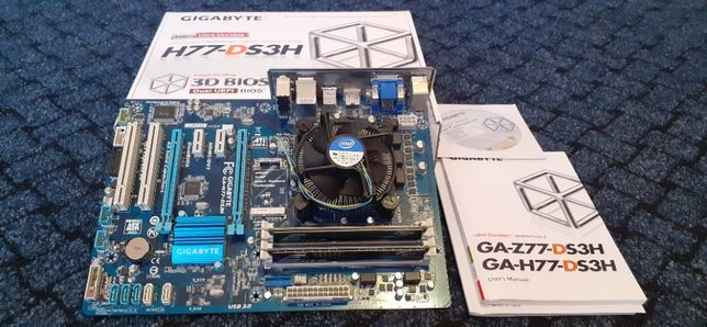 Комплект GA H77-DS3H, I5-3470, 8Gb DDR3-1600