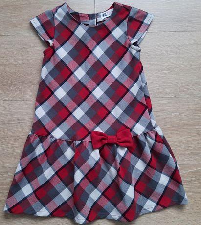 Sukienka w kartkę dla dziewczynki H&M rozmiar 110