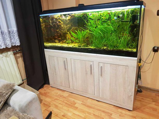 Akwarium 450l szafka ryby rośliny filtry belka oświetleniowa sterownik