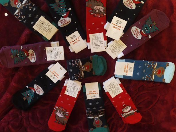Шкарпетки новорічні,носки новогодние, подарунок,family look