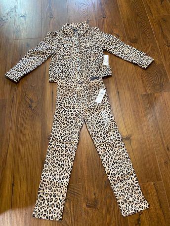 Коттоновый новый костюм на девочку 4-5 лет gap
