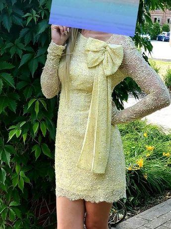 Zjawiskowa sukienka VIOLA PIEKUT długi rękaw