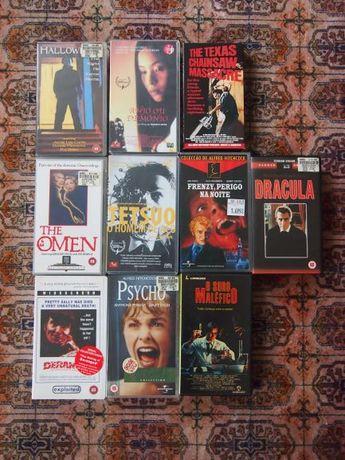 Cassetes VHS de filmes de Terror