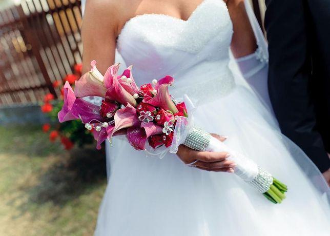 suknia ślubna princessa swarowski