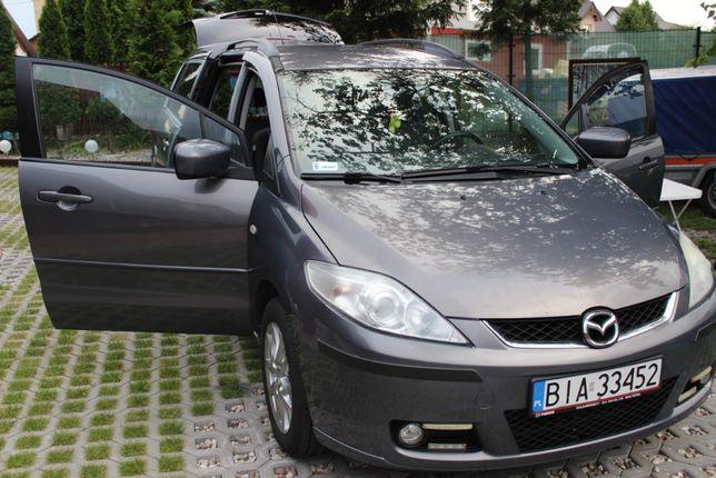 """Mazda 5 2.0, Navi, 10"""", 7 osób,stan b.dobry wizualny i techniczny"""