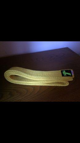 Cinturão amarelo de karate, 240cm. Novo a estrear.