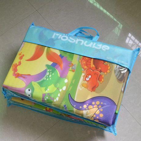 Толстый качественный Детский двухсторонний коврик Беби пол для игр