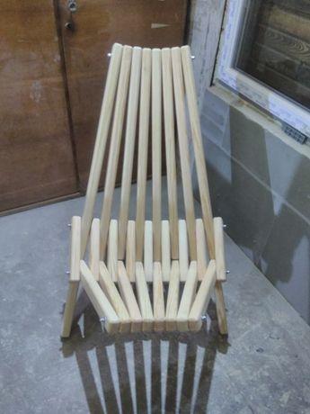 Складной деревянный стул кресло шезлонг для отдыха