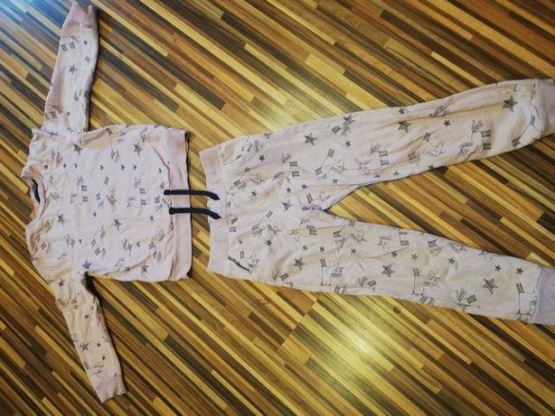 Komplet dres spodnie i bluza 110 116 jednorożec idealne jesień zima