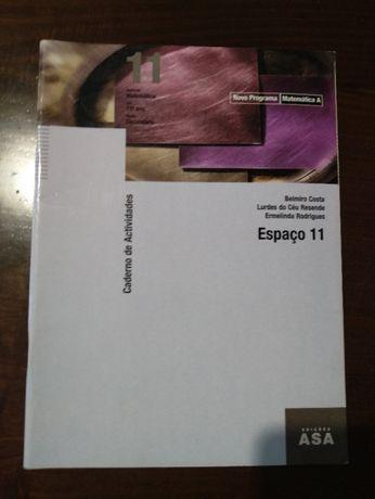 Matemática A 11º ano - Espaço 11 - Caderno de Atividades Edições ASA -