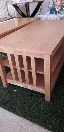 2 mesas boa de madeira.