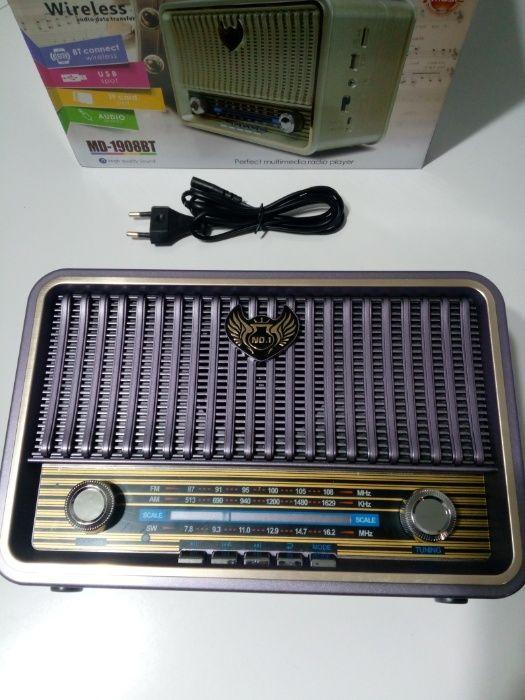 Radio kuchenne bluetooth przenośne RETRO kemai usb Wrocanka - image 1