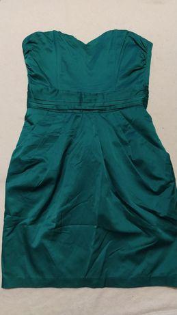 Sukienka butelkowa zieleń w rozmiarze 36