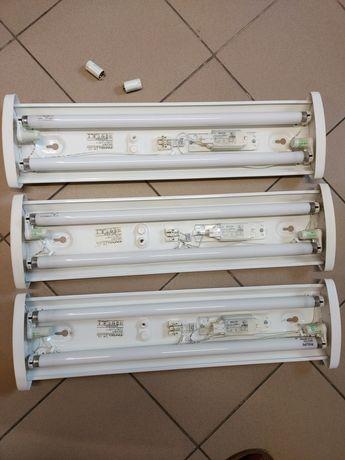 Zestaw trzech lamp jarzeniowych